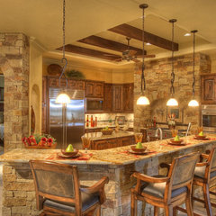 mediterranean kitchen by Sterling Custom Homes