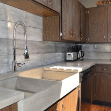Midcentury Kitchen by MODE CONCRETE