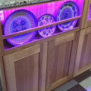 plate display kitchen island, LED. EcoCrush Arctic