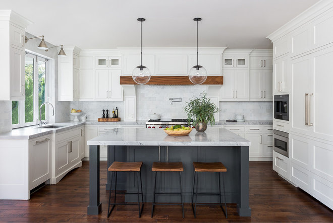 Transitional Kitchen by Urban Restoration