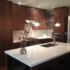 Transitional Kitchen by Emily Griffin Design
