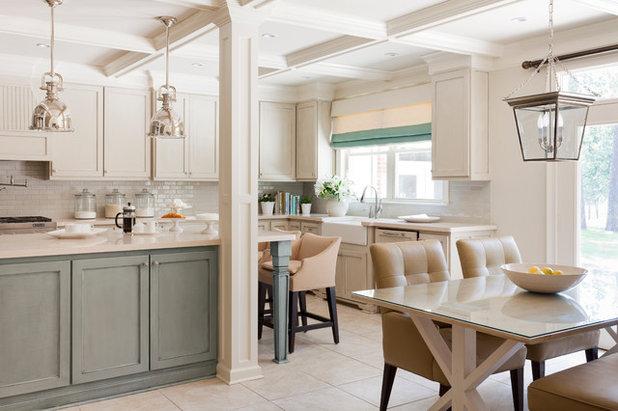 Transitional Kitchen by Tobi Fairley Interior Design