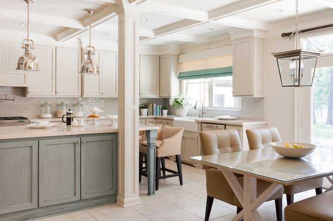 Transitional Kitchen by Tobi Fairley Interior Design