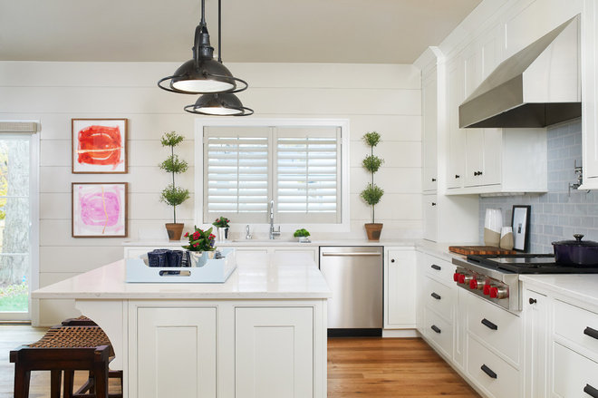 Transitional Kitchen by Vision Interiors by Visbeen
