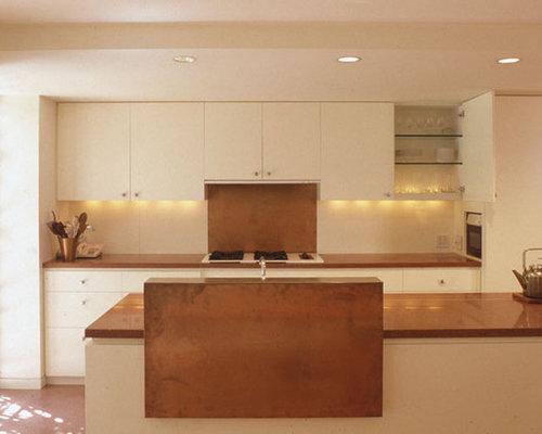 Hammered copper backsplash home design ideas pictures for Copper kitchen design ideas