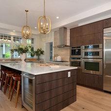 Transitional Kitchen by Studio1 Kitchen Design Inc