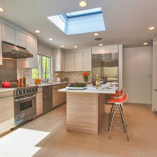 Contemporary kitchen ideas - Inspiration for a contemporary kitchen remodel in Other with stainless steel appliances