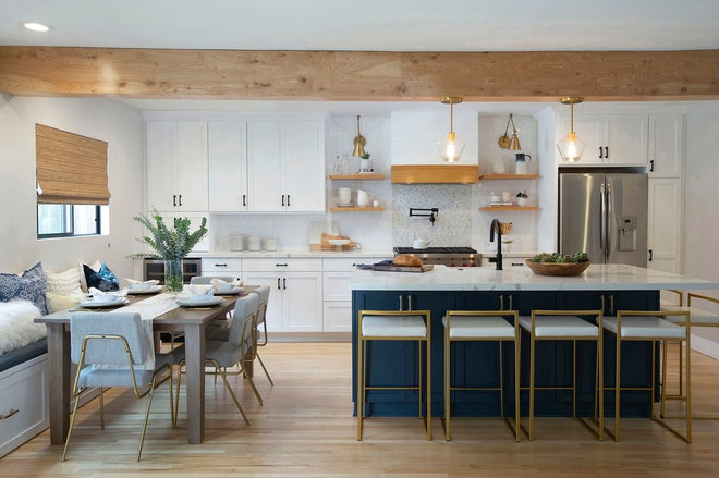 Transitional Kitchen by Hope Pinc Design