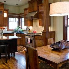 Craftsman Kitchen by Copperline Homes