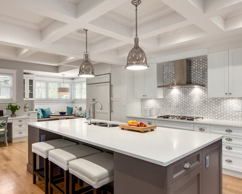 White Countertop And Backsplash Ideas, Pictures, Remodel and Decor