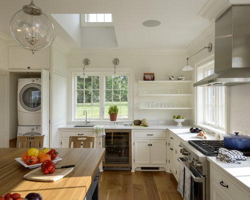 Washer And Dryer In Kitchen Houzz