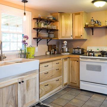 Poplar and Walnut Kitchen Cabinets