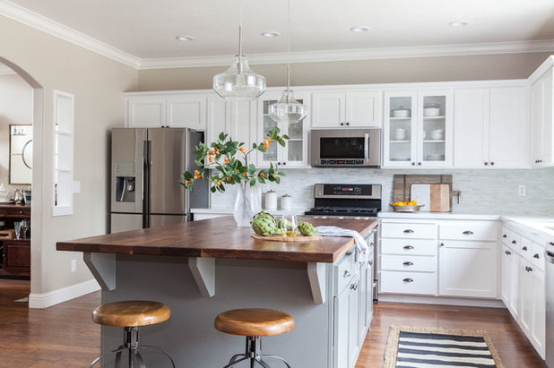 Refaced Cabinets Brighten A California Kitchen