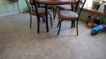 Porcelain Tile, Hardwood Refinishing, Luxury Vinyl Tile on Main Level
