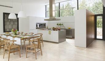 Porcelain Tiled Kitchen With Natural Lighting
