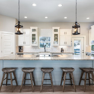 Beach Style Kitchen Pictures   Example Of A Coastal U Shaped Kitchen Design  In Austin