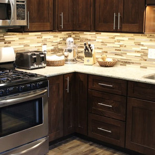 Port Byron, IL- Transitional Kitchen With Rich Dark Cabinets and Quartz Counters