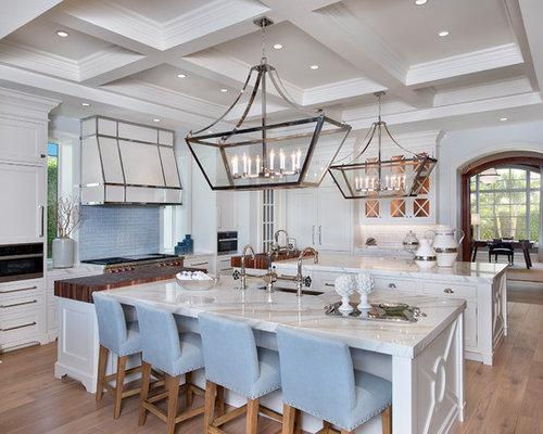 Maritime küchen mit zwei kücheninseln ideen bilder houzz