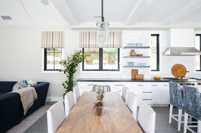Transitional Kitchen by William Guidero Planning and Design