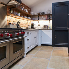 White And Stainless Rustic Kitchen