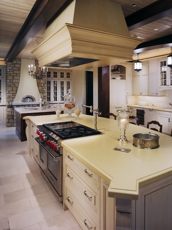 Kitchen Island With Slide In Stove range in island | houzz