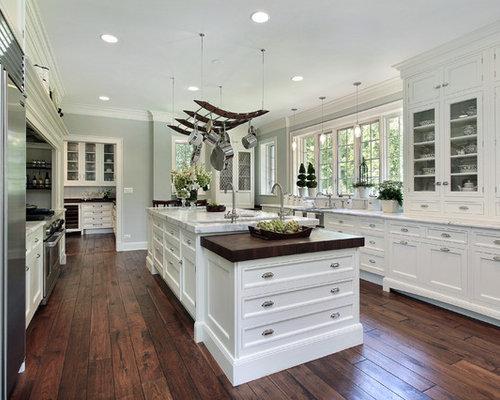 Küche Mit Holzboden : Shabby Chic Kitchen Cabinet Designs