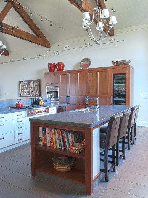Ideas para cocinas fotos de cocinas con encimera de zinc - Senos de cocina ...