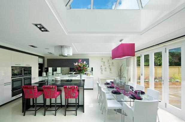 Väggdekor Köket : Svart och vitt är alltid smakfullt i köket