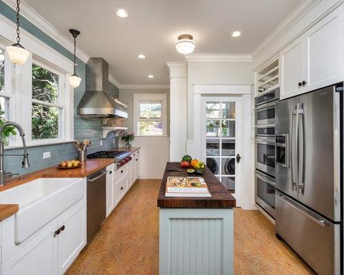 Kitchen design ideas remodel pictures houzz for Narrow kitchen ideas home