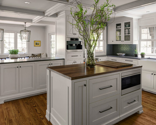 Half Wall Kitchen With An Island Design Ideas Remodel