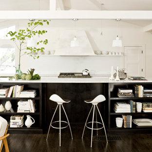 ポートランドのミッドセンチュリースタイルのおしゃれなキッチン (シルバーの調理設備) の写真