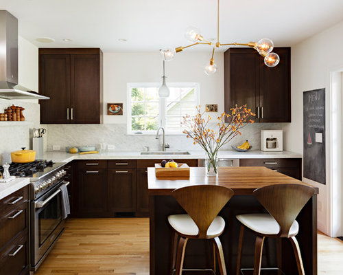 light cabinets dark floors | houzz