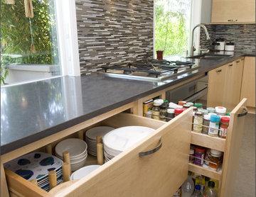 Portland Oregon European Contemporary Kitchen Remodel