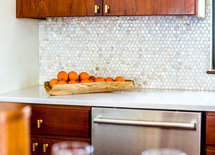 How did you finish/stain the beautiful kitchen cabinets?