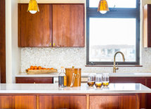 What kind of wood was used for the cabinetry?