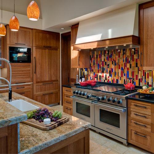 Houzz Kitchen Backsplash Tile: Vertical Backsplash