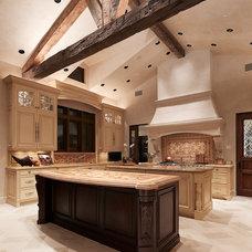 Mediterranean Kitchen by Lencioni Construction
