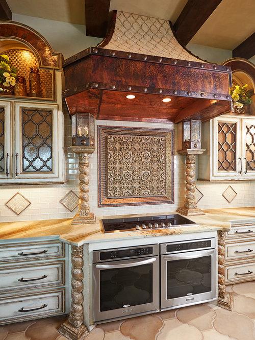 Mediterranean Galley Eat In Kitchen Design Ideas