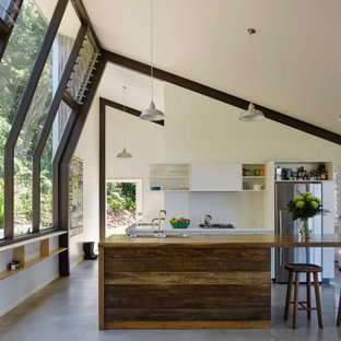 This is an example of a midcentury kitchen in Other.