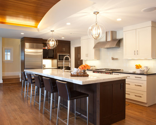 how to install a kitchen cabinet two tone countertops home design ideas pictures remodel 8679