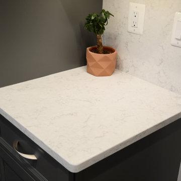 Potomac, MD Large White Quartz Kitchen Countertops