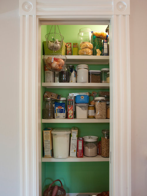 Painted pantry houzz for Cost to build a pantry