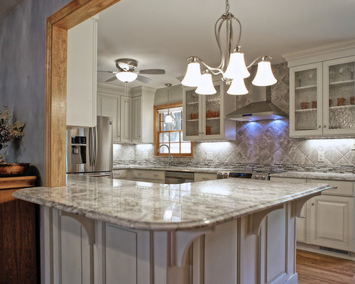 Example Of A Large Transitional U Shaped Eat In Kitchen Design In Other With Part 93