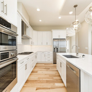 Transitional Kitchen Photos   Kitchen   Transitional L Shaped Light Wood  Floor And Beige Floor