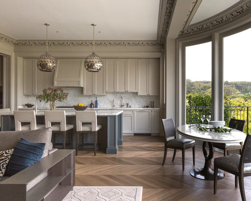Revere Pewter Cabinets   Houzz Example of a transitional galley open concept kitchen design in San  Francisco with shaker cabinets . Benjamin Moore Revere Pewter Living Room. Home Design Ideas