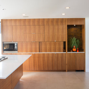 Example of a minimalist kitchen design in Dallas