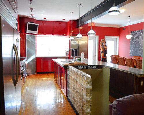 Sports man cave kitchen design ideas renovations photos for Man cave kitchen ideas