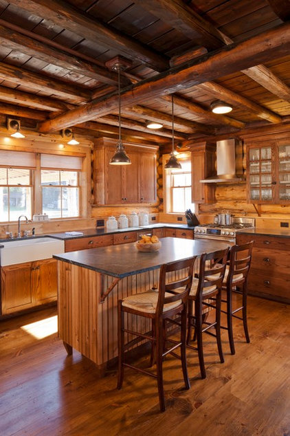 Rustic Kitchen by Rangeley Building & Remodeling