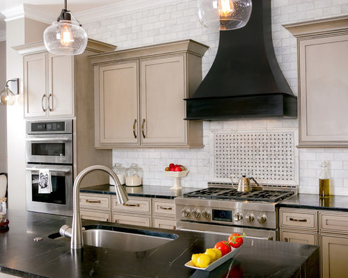 Superior Inspiration For A Transitional Galley Kitchen Remodel In Other With An  Undermount Sink, Beaded Inset