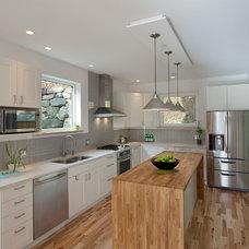 Contemporary Kitchen by Ario Construction Inc.
